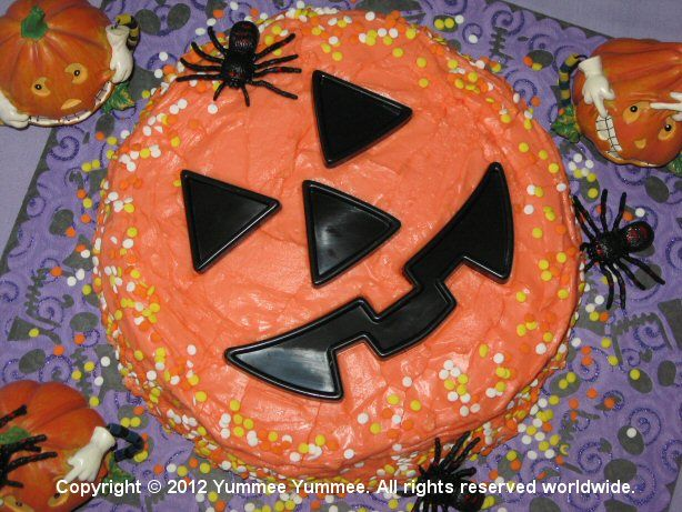 Our Fudgee Chocolate Velvet Cake is king of the pumpkin patch!
