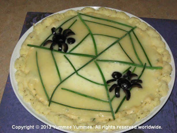 There's something strange on this Spider Web Pizza.
