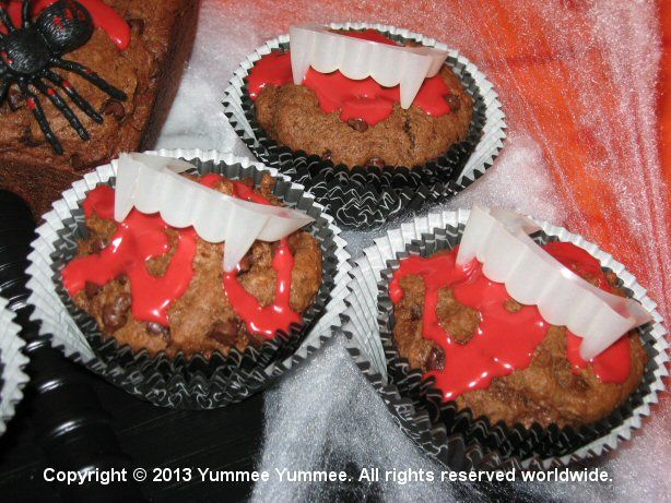 Darkness stirs and wakes imagination with vampire fangs and Triple Chocolate Muffins.