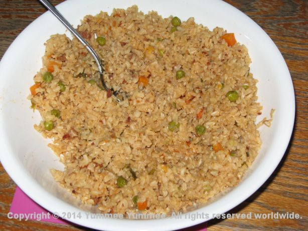 Brown Rice with Peas and Carrots