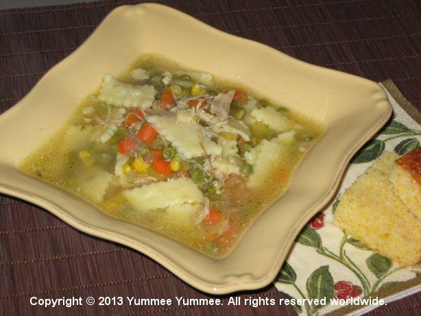 Chicken Noodle Mixed Vegetable Soup