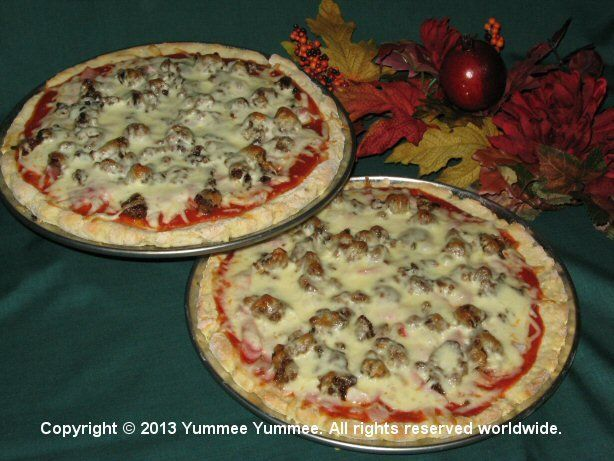 Gourmet Thick Crust Pizza - gluten-free - add your favorite toppings.