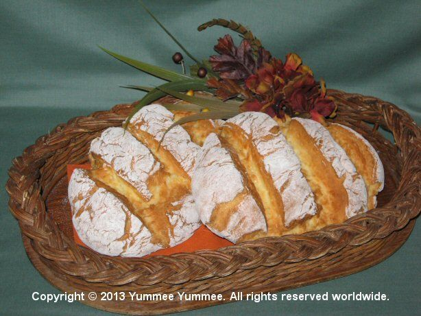 Make a Thanksgiving centerpiece for your table, and you can eat it. Rustic Bread Loaves are made without the pan.