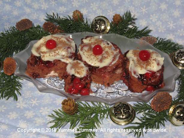 Have yourself a Merry little Christmas. Bake and enjoy delicious Black Forest Rolls.