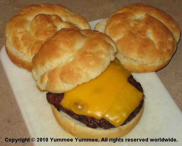 Quick and easy gluten-free hamburger buns.