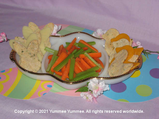 Vegetable Crackers make a yummy appetizer.