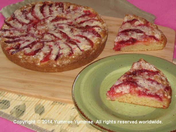 Spiral Plum Cake - yum! Click on image for more muffin and coffee cake recipes.