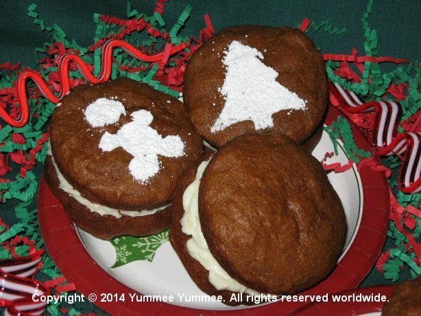 Making spirits bright with Gingerbread Whoopie Pies.